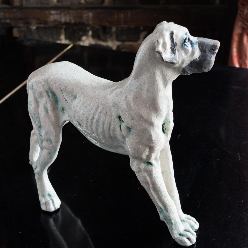 Studio pottery Great Dane,