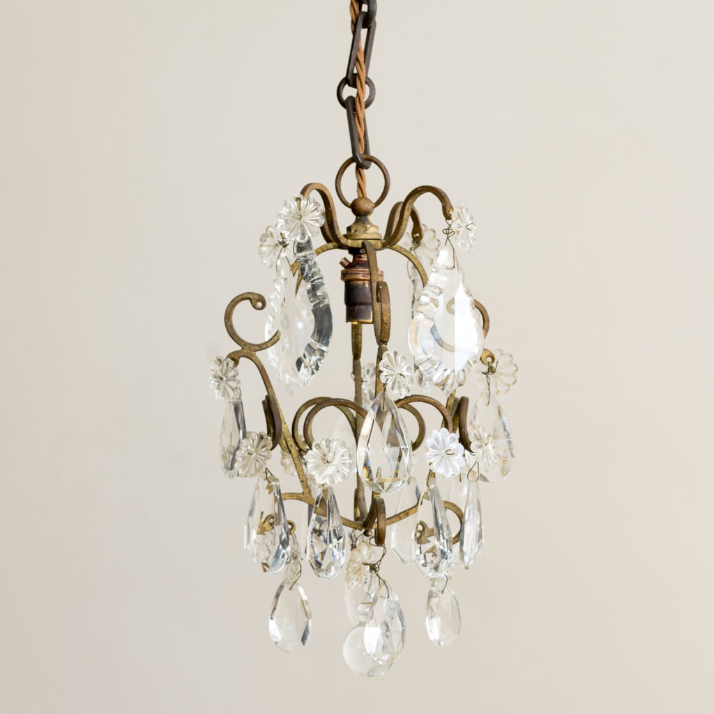 Small French lustre chandelier,