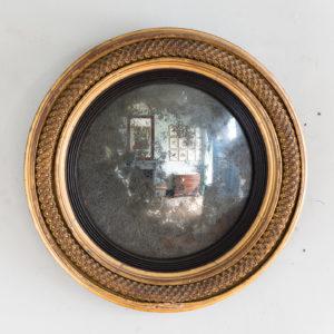 Regency gilded convex mirror,