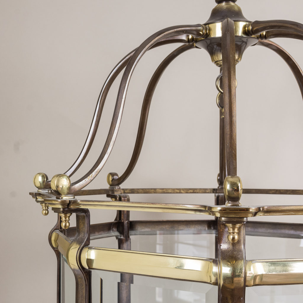 Two substantial Georgian style hall lanterns,-132645