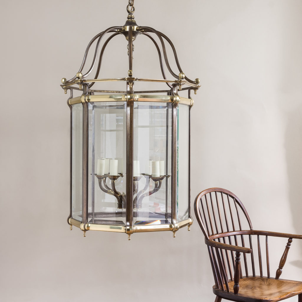 Two substantial Georgian style hall lanterns,-132652