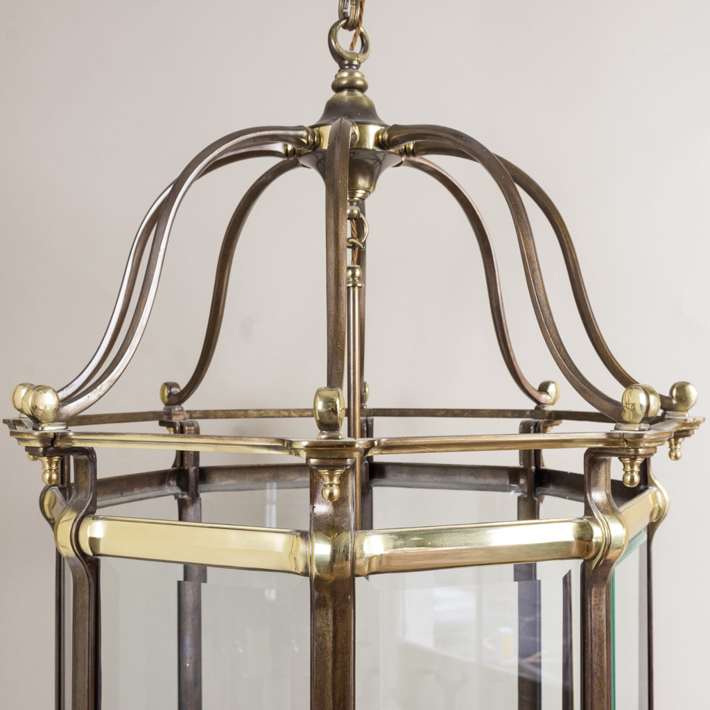 Two substantial Georgian style hall lanterns,-132644