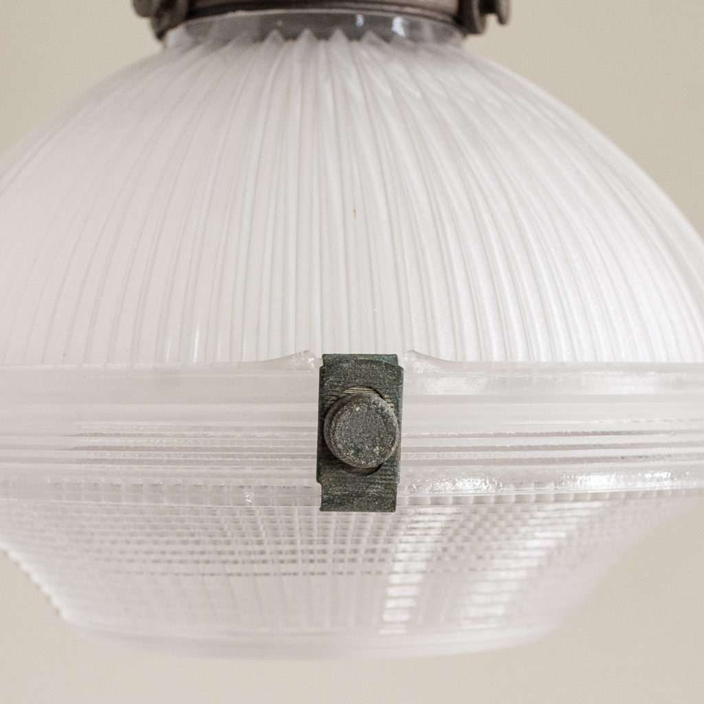 1920s prismatic Holophane pendant lights,-132435