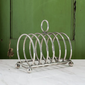 1930s silver-plated circular toast rack,