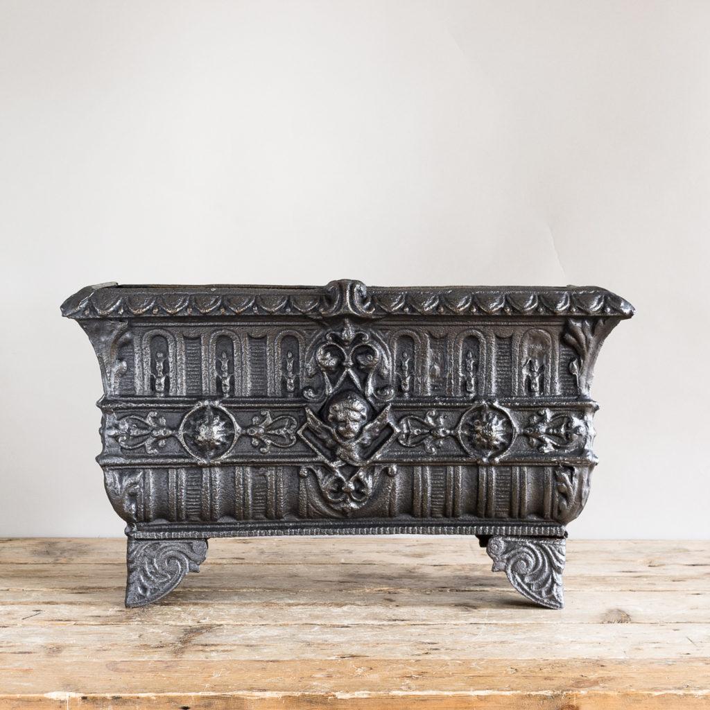 Victorian cast iron jardinière