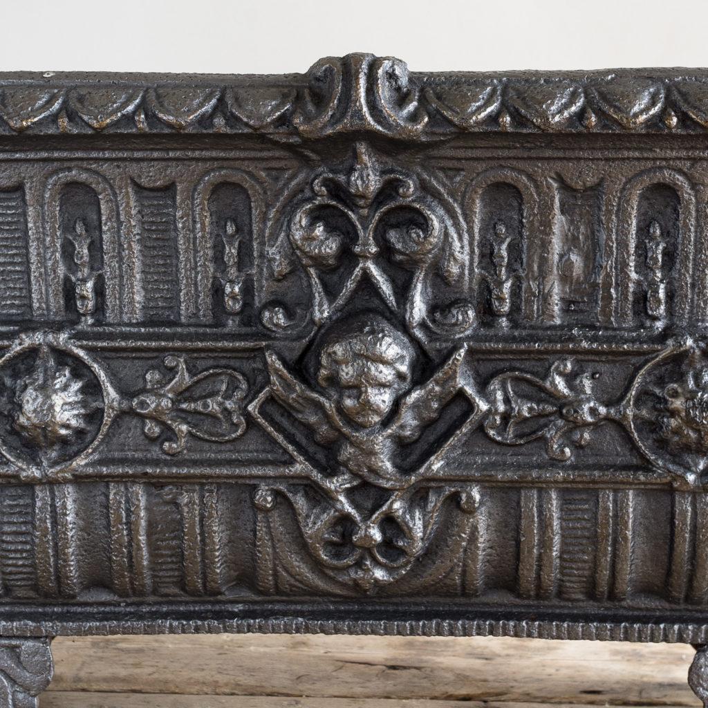 Victorian cast iron jardinière,-133503