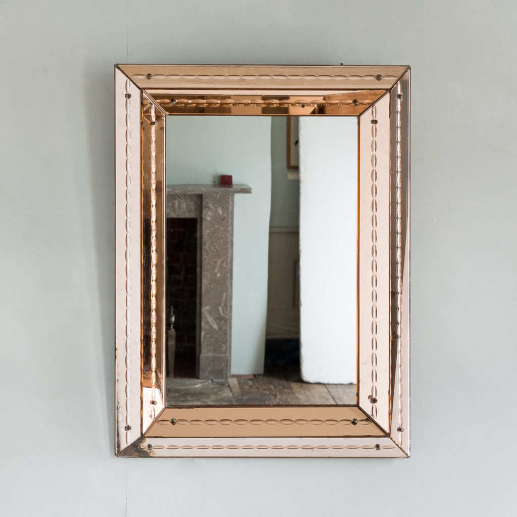 1940s Italian two-tone mirror,