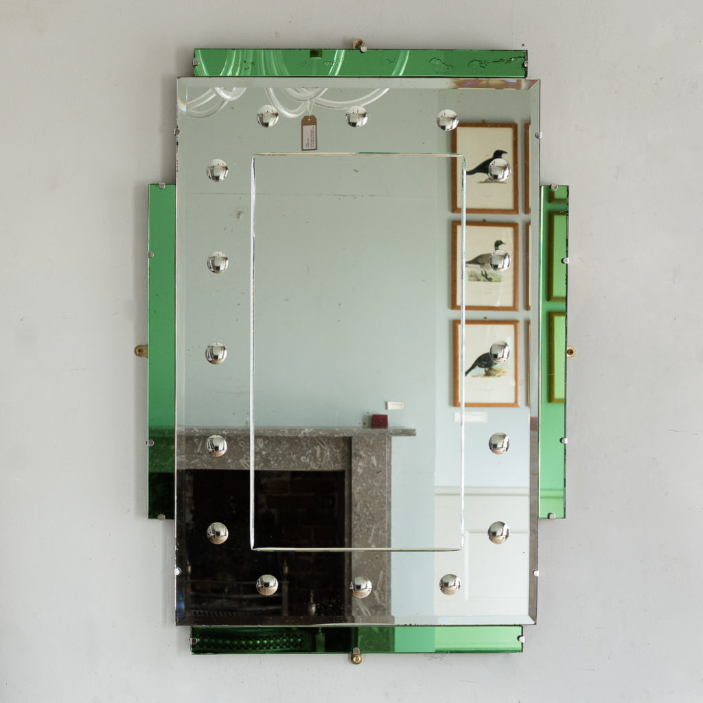 1930s two tone Art Deco mirror,