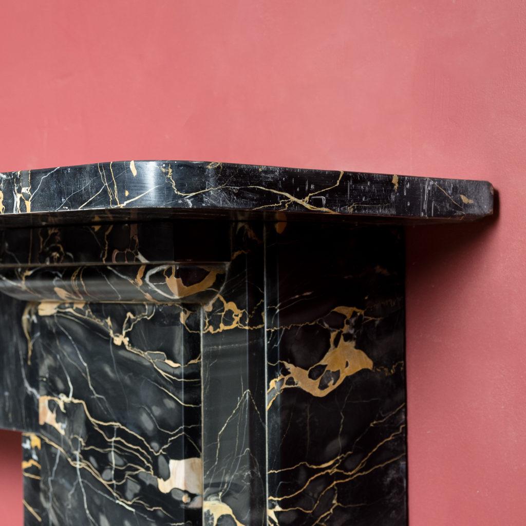 Nineteenth century Portoro marble chimneypiece,-132662