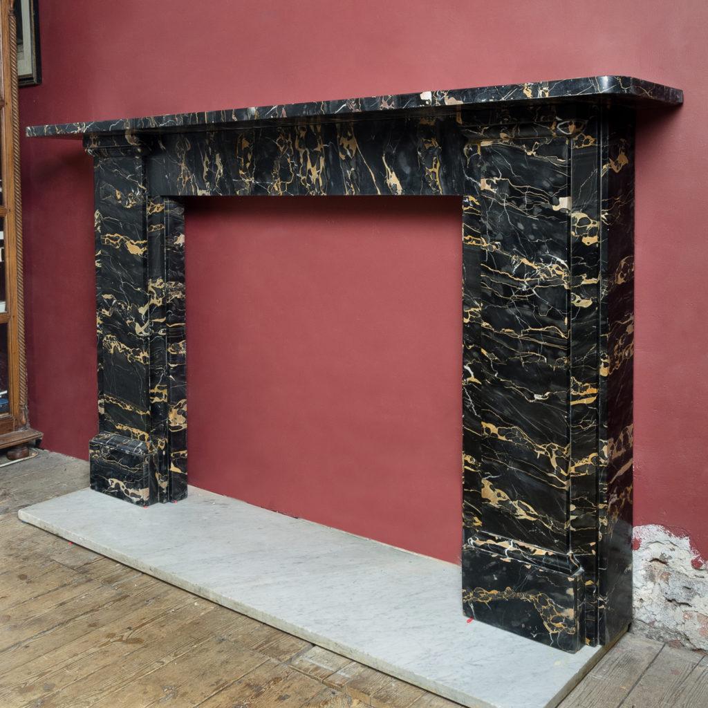 Nineteenth century Portoro marble chimneypiece,-132663