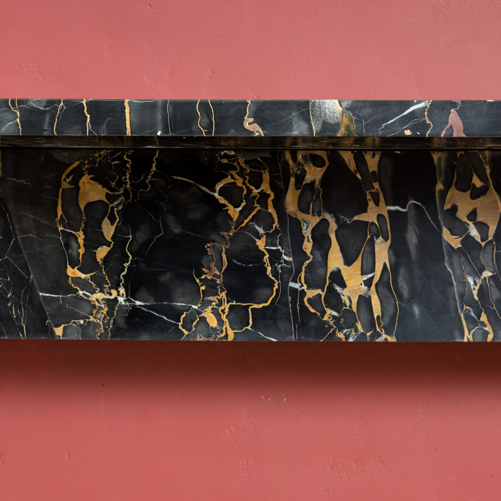 Nineteenth century Portoro marble chimneypiece,-132654