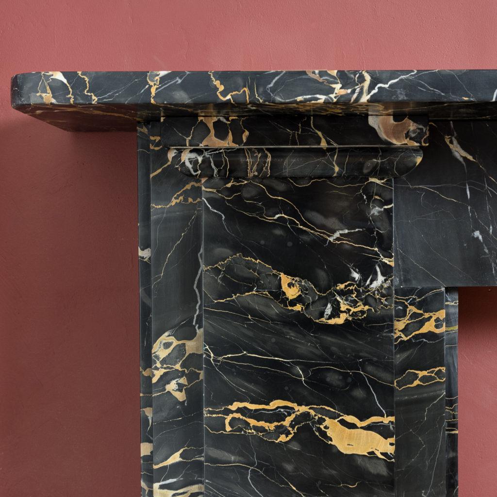 Nineteenth century Portoro marble chimneypiece,-132656