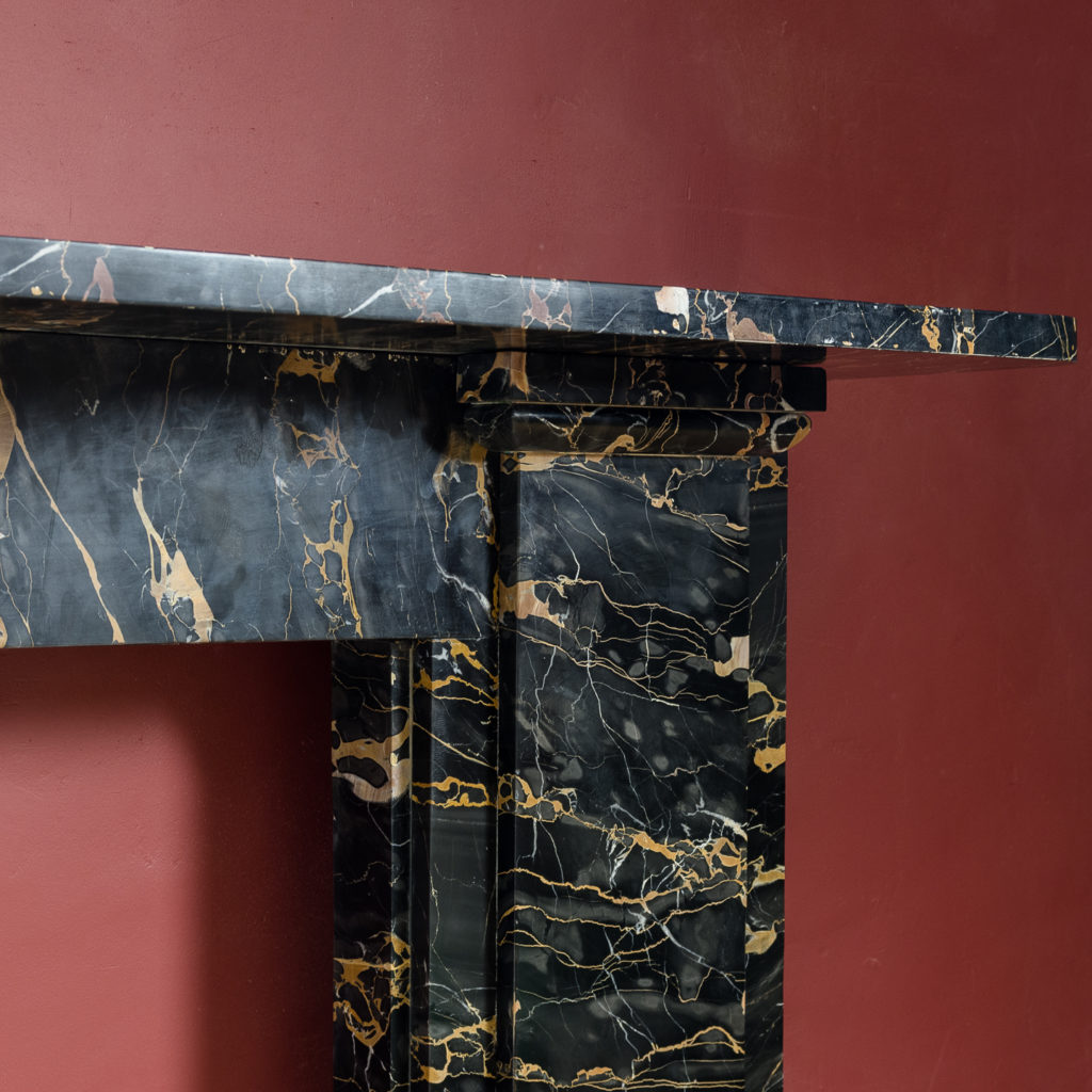 Nineteenth century Portoro marble chimneypiece,-132657