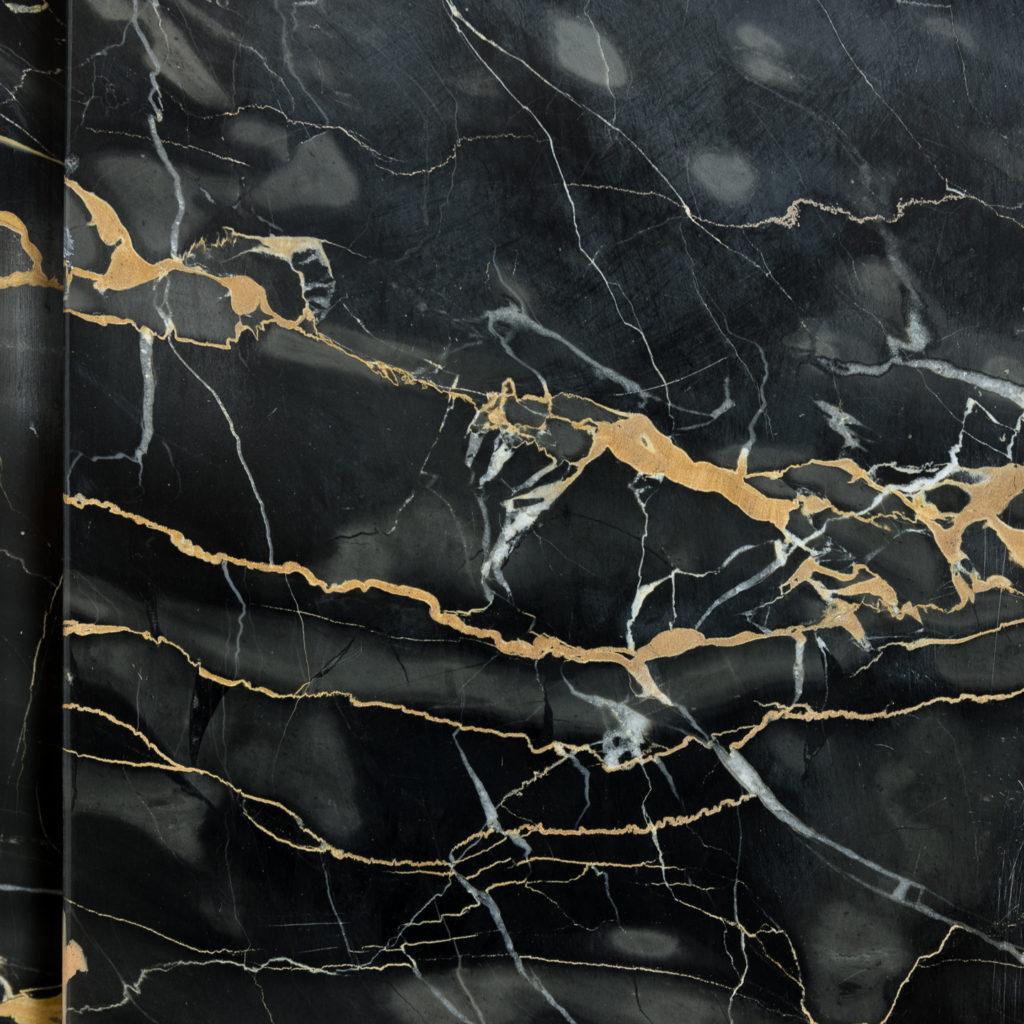 Nineteenth century Portoro marble chimneypiece,-132658