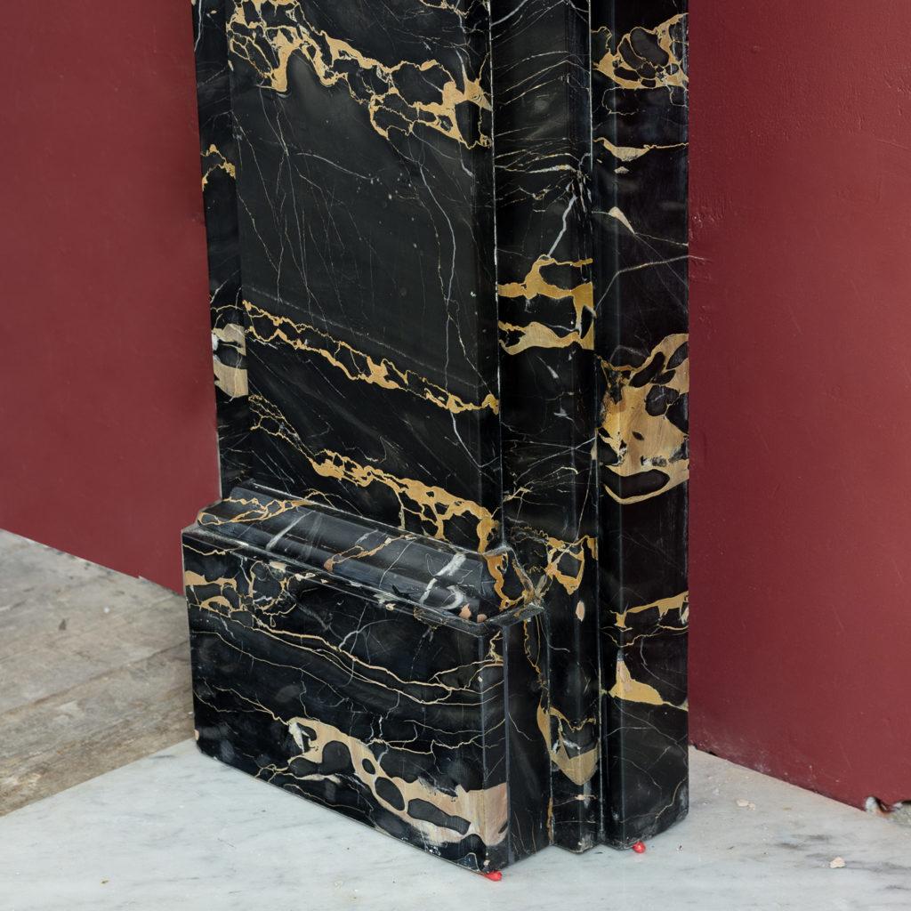 Nineteenth century Portoro marble chimneypiece,-132659