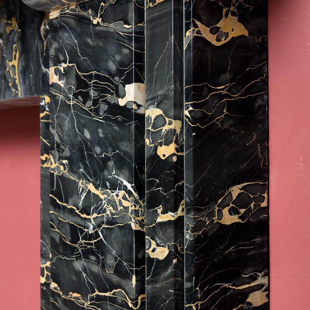 Nineteenth century Portoro marble chimneypiece,-132661