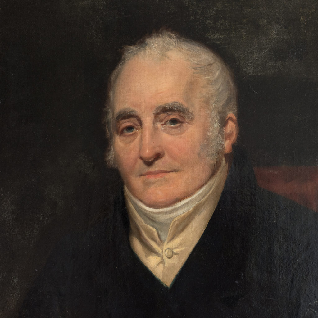 Mid 19th century portrait. oil-on-canvas. Presented in a gilt frame.
