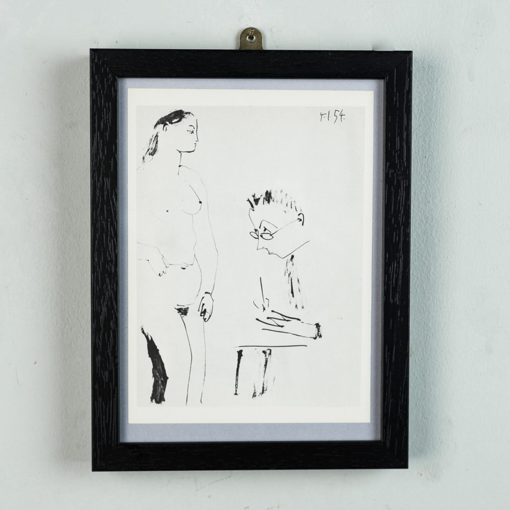 Scaled down version of the 'Verve'. Framed in black.