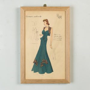 Original French Fashion print from 1939