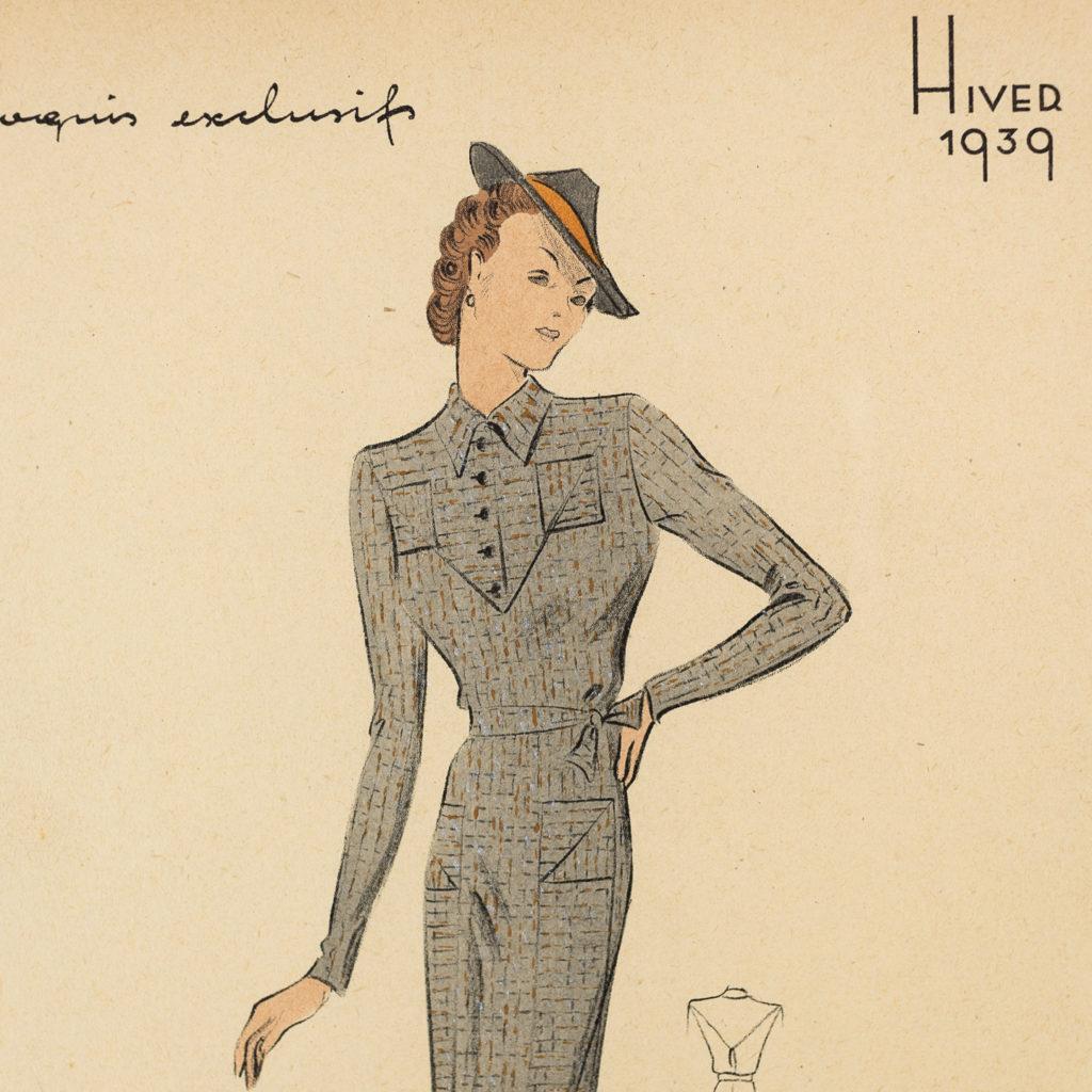 Elegant original fashion lithographs