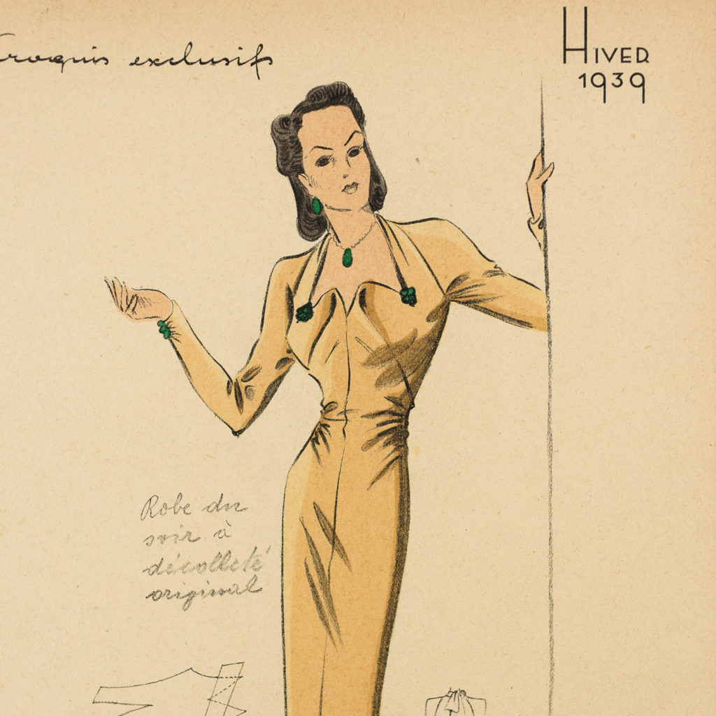 Elegant original fashion lithographs