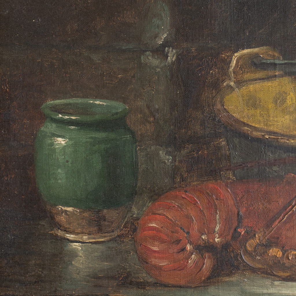 Lobster, still-life. Oil-on-canvas-133377