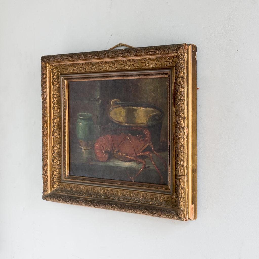 Lobster, still-life. Oil-on-canvas-133369