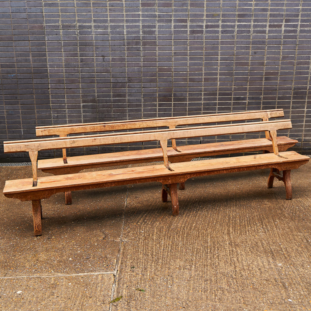 A pair of station benches,-0