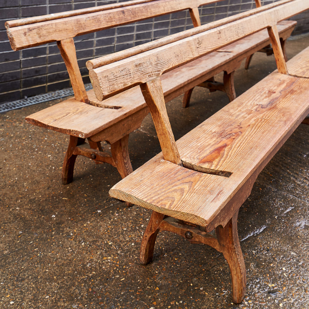 A pair of station benches,-133671