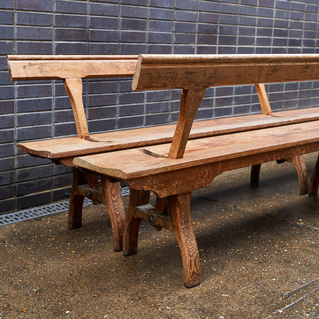 A pair of station benches,-133672