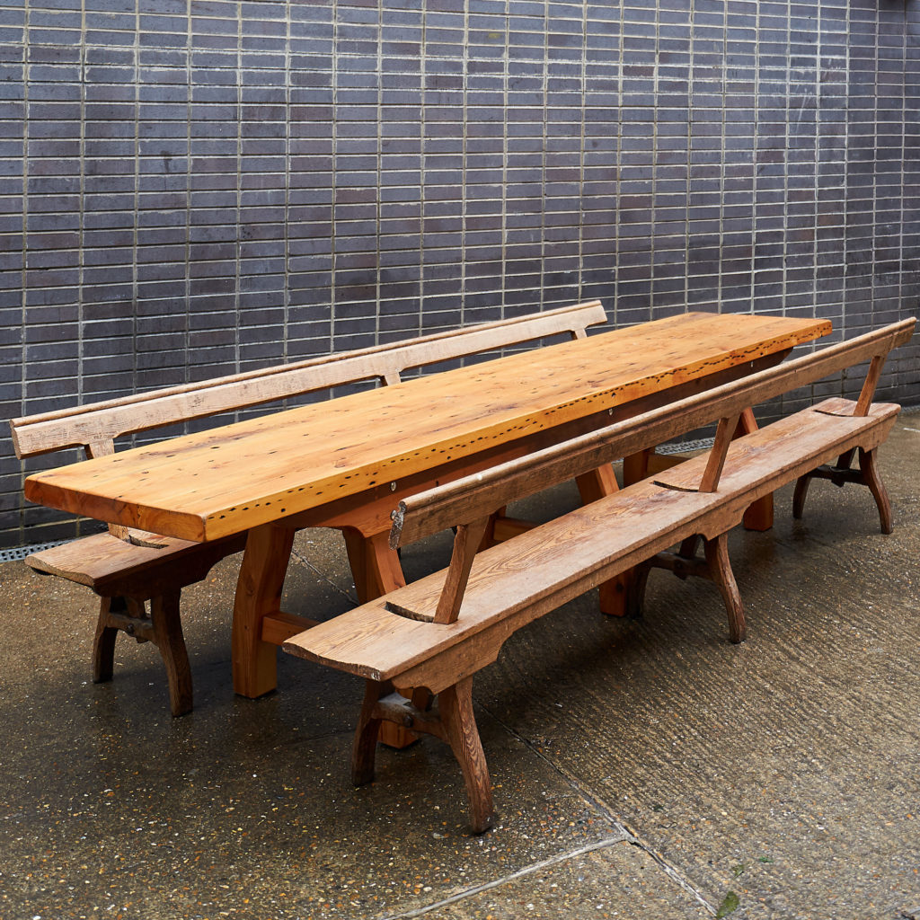 A pair of station benches,-133686
