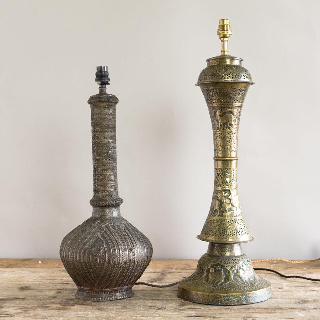 Twentieth century Moorish cast brass table lamp,-133769