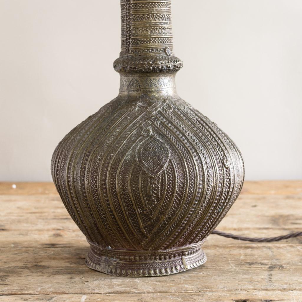 Twentieth century Moorish cast brass table lamp,-133768