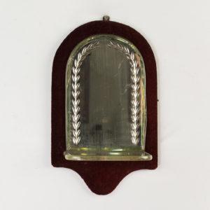 Edwardian velvet backed candle sconce,