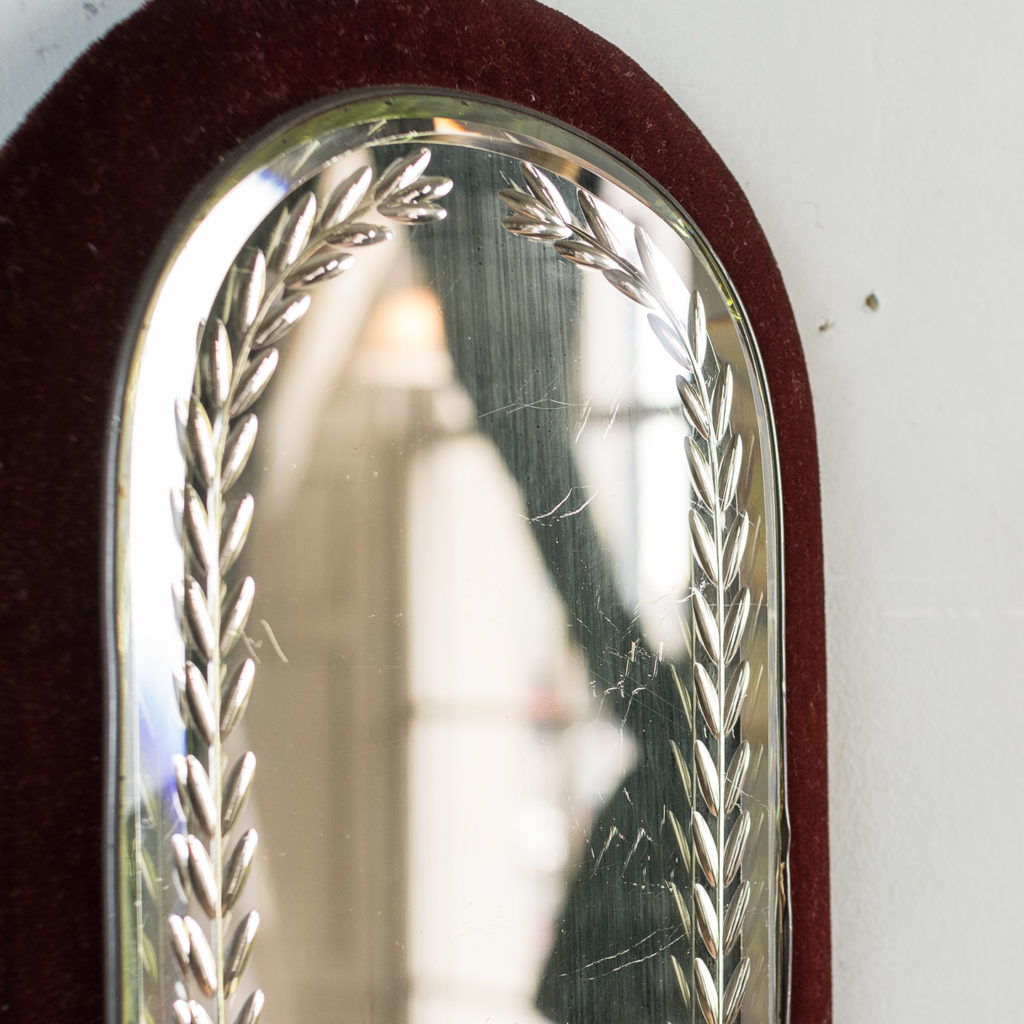 with etched and bevelled mirror