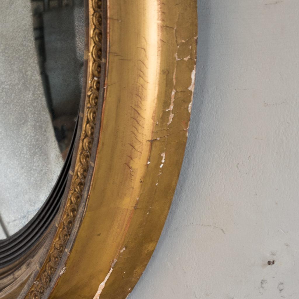 Regency giltwood convex mirror,-134278