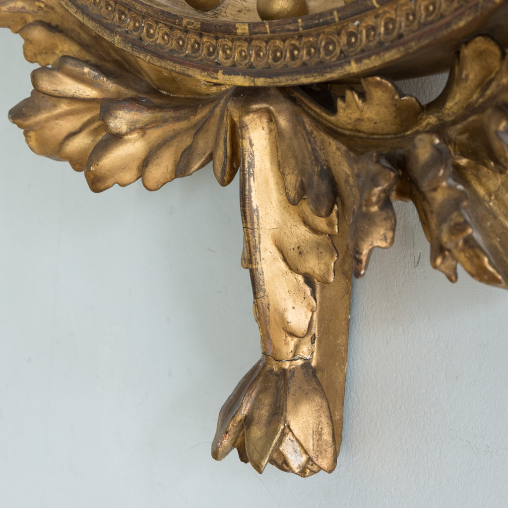 Regency giltwood convex mirror,-134281