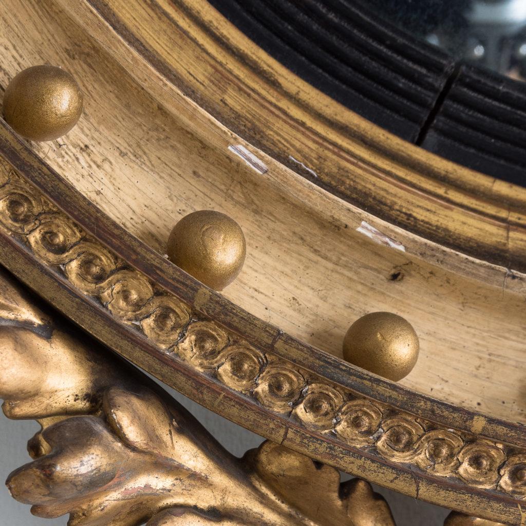 Regency giltwood convex mirror,-134283