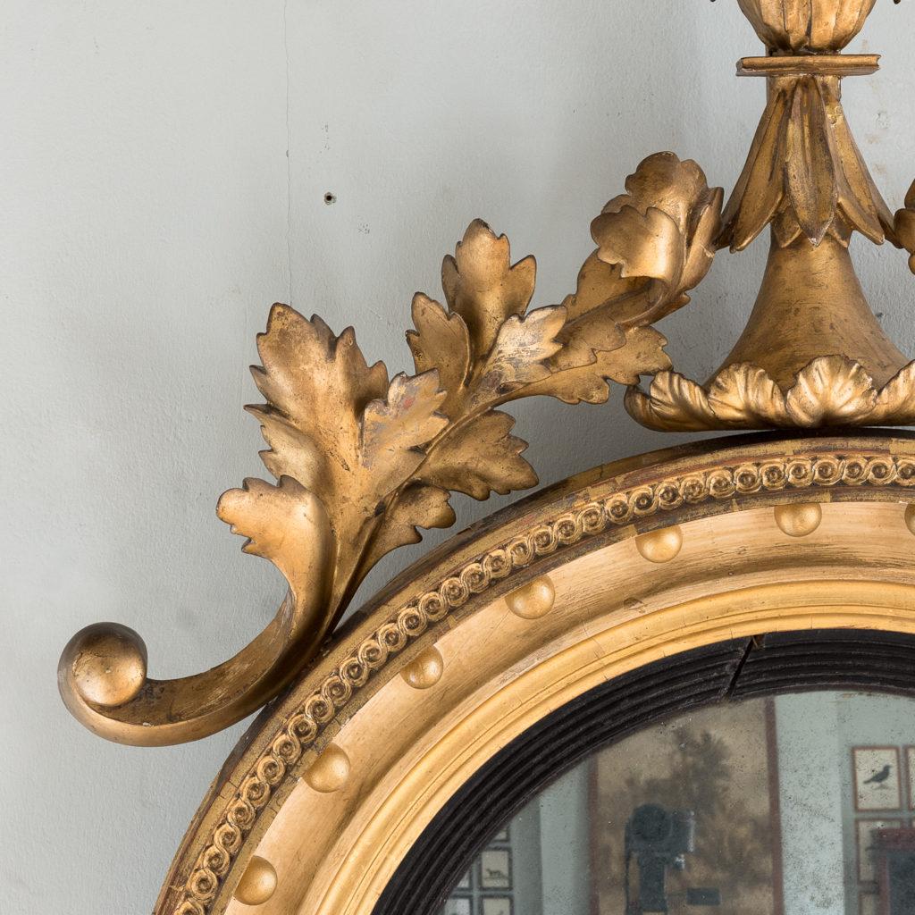 Regency giltwood convex mirror,-134273