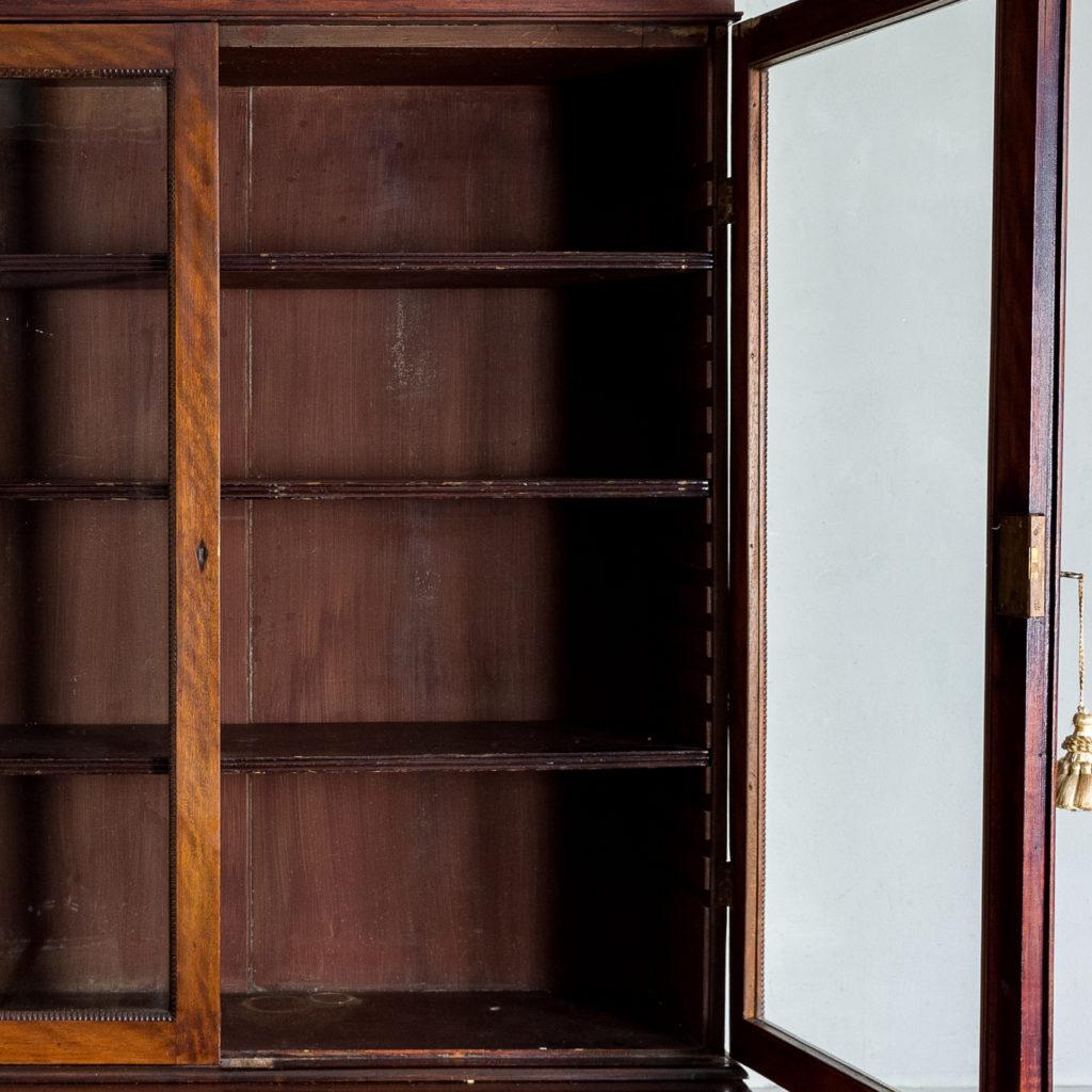 Regency mahogany bookcase,-134111