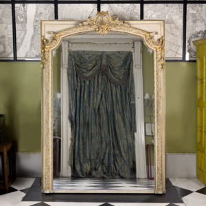 Large Louis XV style overmantle mirror,