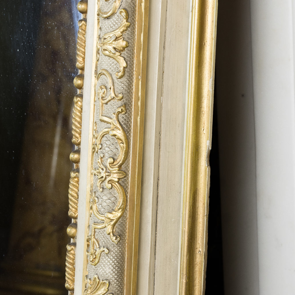 Large Louis XV style overmantle mirror,-134144