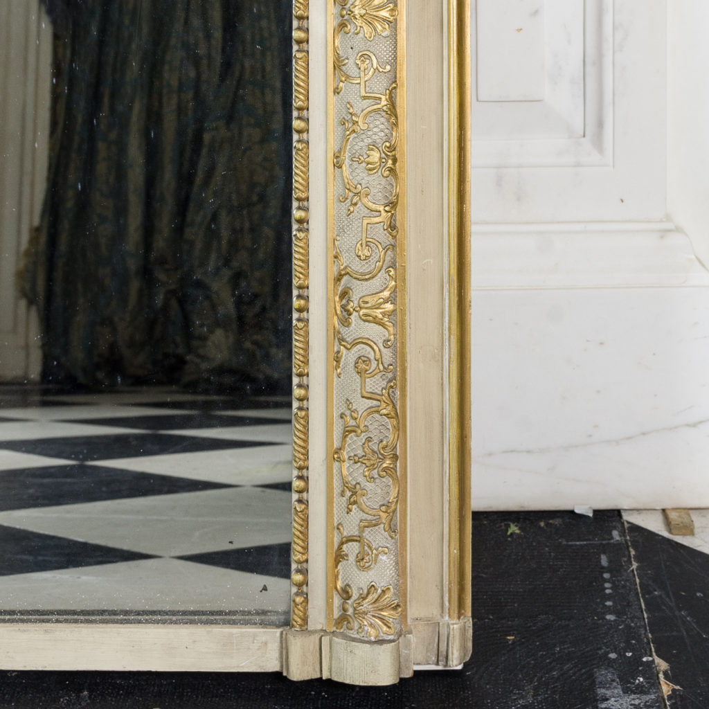 Large Louis XV style overmantle mirror,-134145
