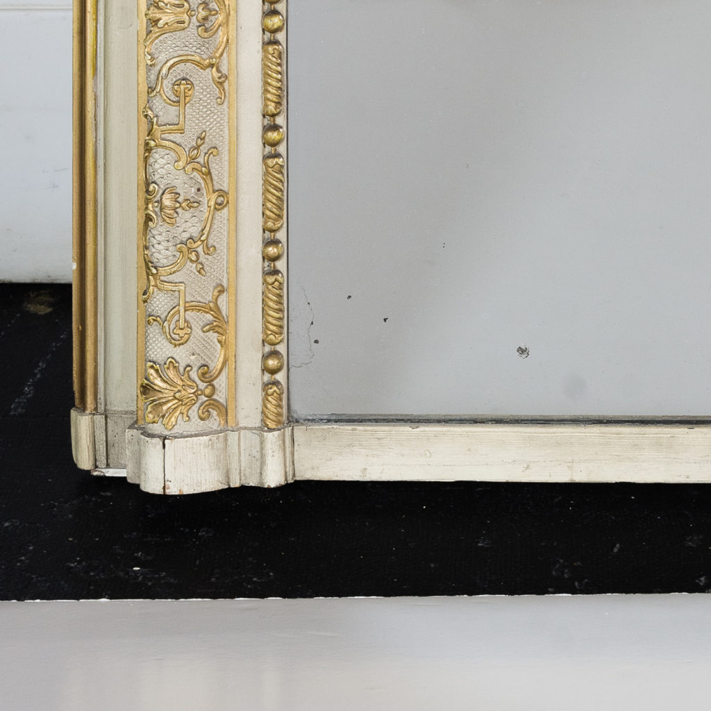 Large Louis XV style overmantle mirror,-134147