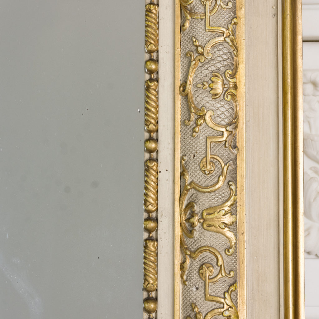 Large Louis XV style overmantle mirror,-134150