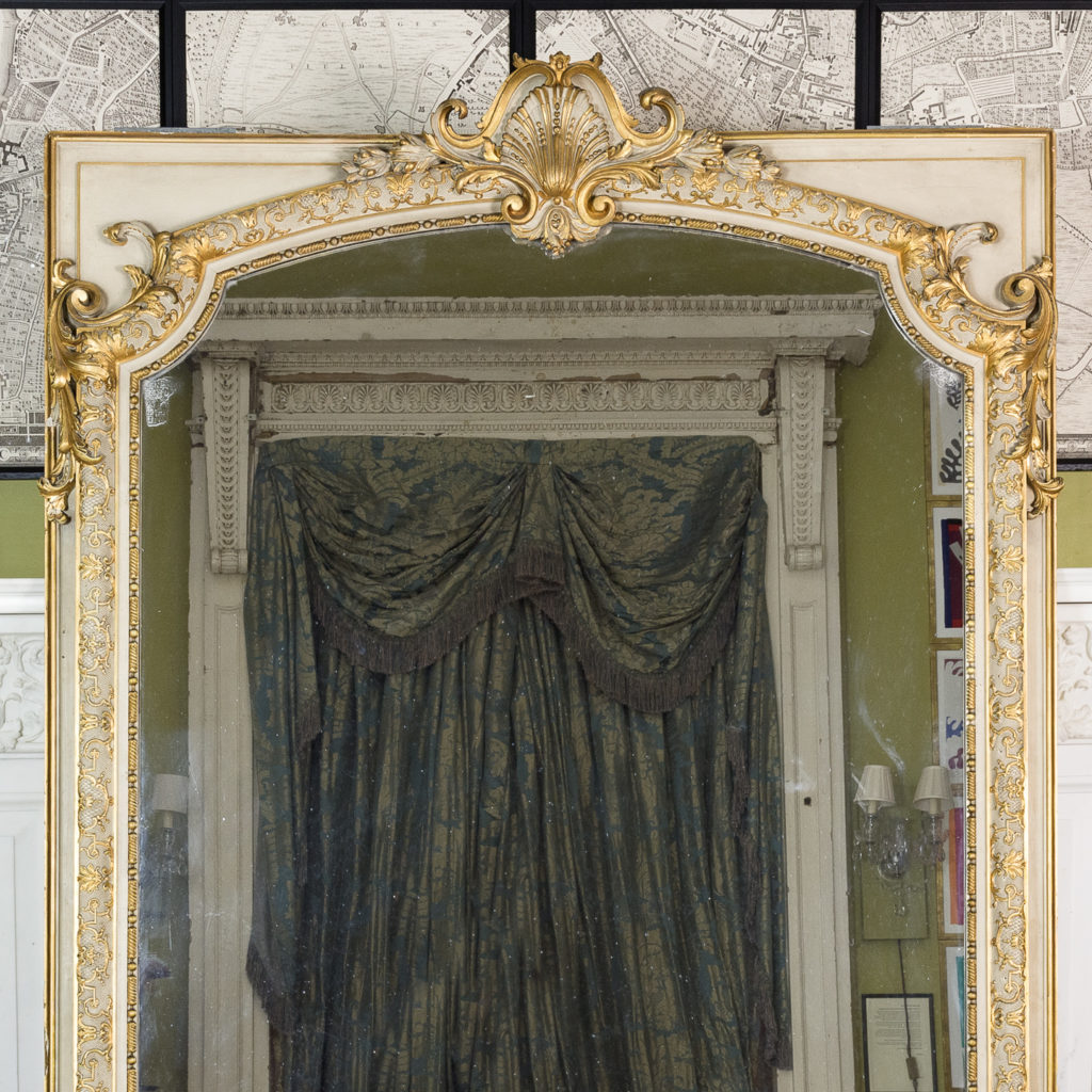 Large Louis XV style overmantle mirror,-134149