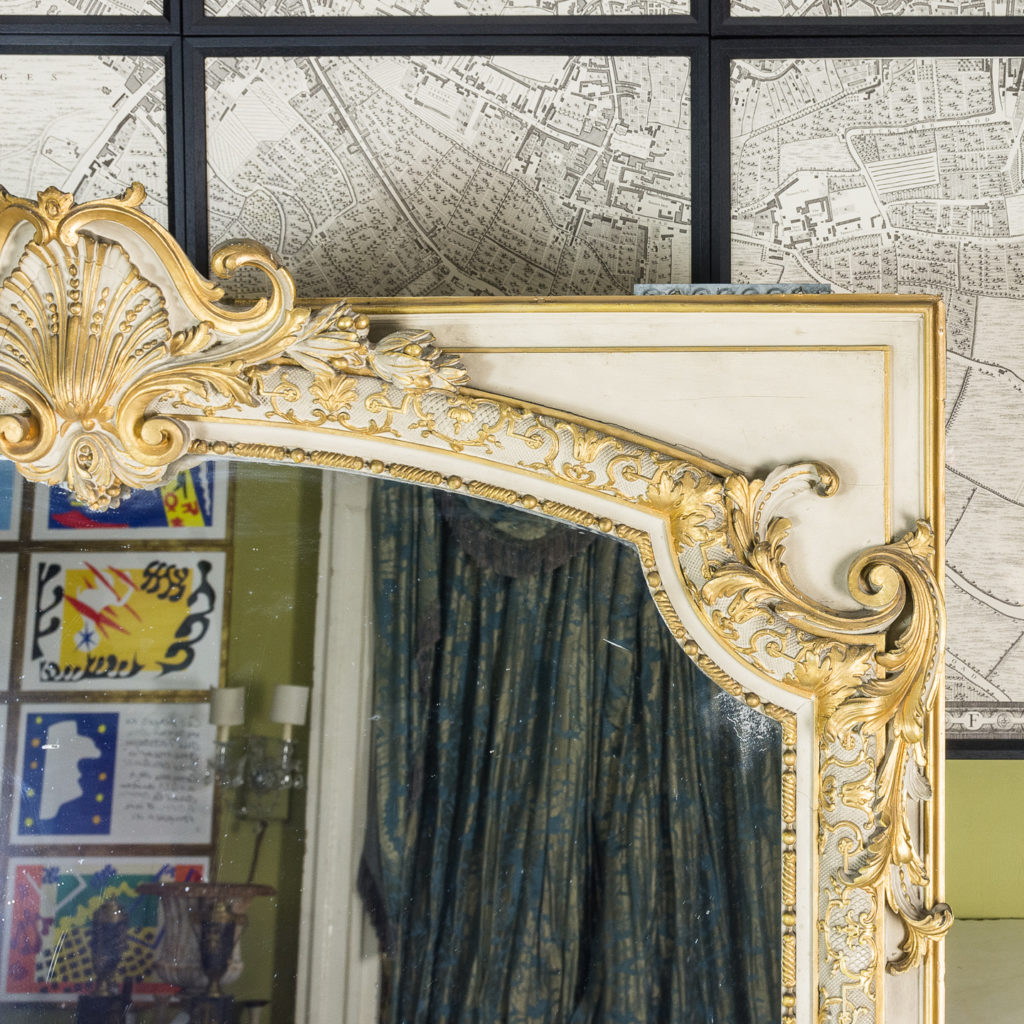 Large Louis XV style overmantle mirror,-134136