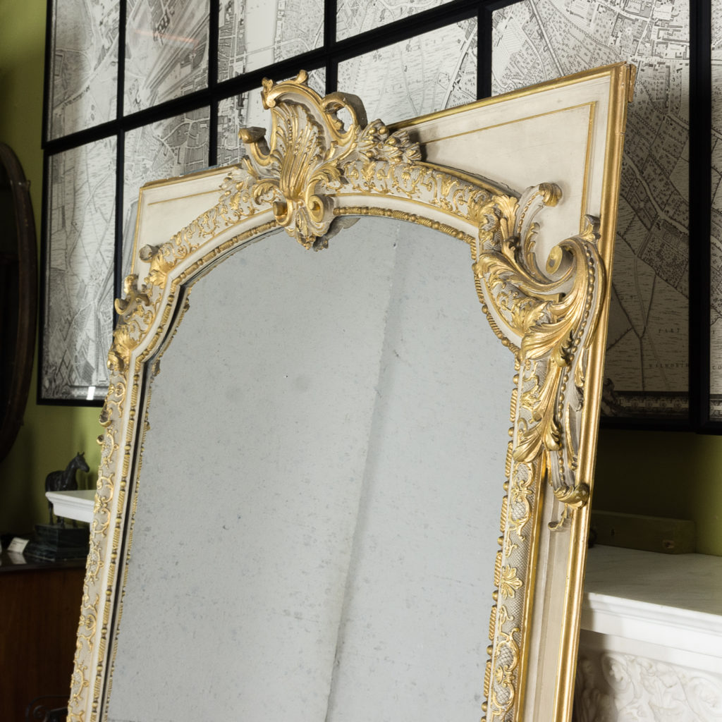 Large Louis XV style overmantle mirror,-134139