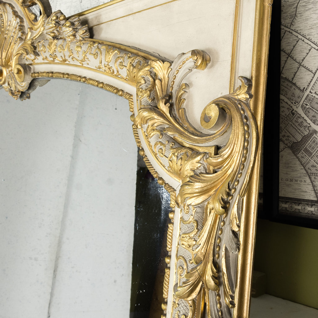 Large Louis XV style overmantle mirror,-134140
