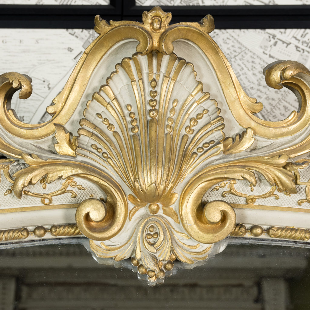 Large Louis XV style overmantle mirror,-134141